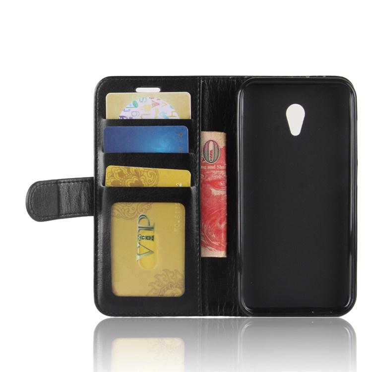 Чехол-книжка MyPads для Alcatel U5 3G 4047D / Alcatel U5 3G 4047X с мульти-подставкой застёжкой и визитницей черный цены