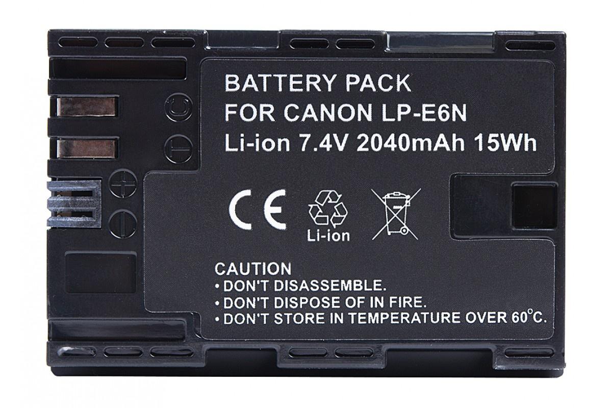Аккумулятор Prolike PR-LPE6N (LP-E6 для EOS 6D 60D, 70D, 80D, 7D, 5D mark II, mark III) 2040mAh зеркальный фотоаппарат canon eos 7d mark ii body w e1 body черный