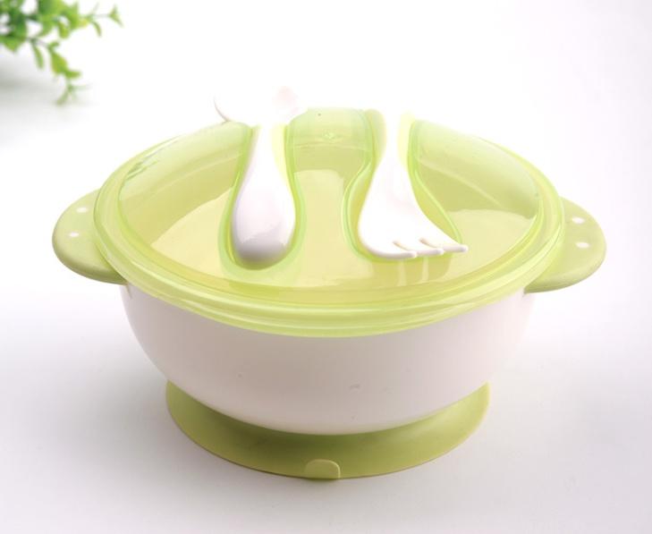 Детская тарелка на присоске с крышкой ложкой вилкой посуда сказка тарелка с крышкой на присоске