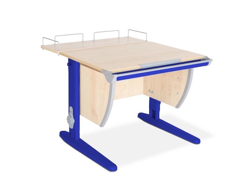 Парта ДЭМИ СУТ-14-01 75х55 см + задняя приставка (цвет столешницы: клен, цвет ножек стола: синий)