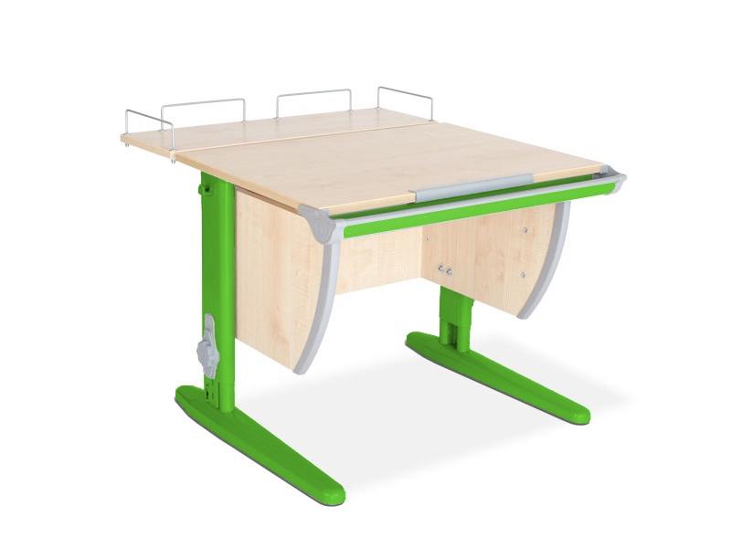 Парта ДЭМИ СУТ-14-01 75х55 см + задняя приставка (цвет столешницы: клен, цвет ножек стола: зеленый)