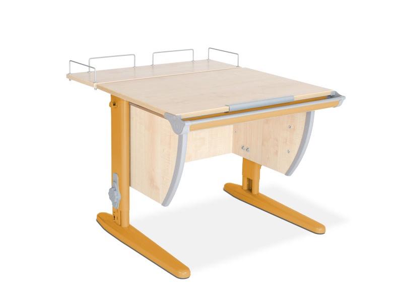 Парта ДЭМИ СУТ-14-01 75х55 см + задняя приставка (цвет столешницы: клен, цвет ножек стола: оранжевый)