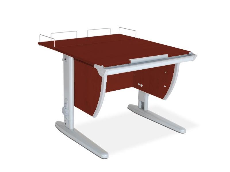 Парта ДЭМИ СУТ-14-01 75х55 см + задняя приставка (цвет столешницы: яблоня, цвет ножек стола: серый)