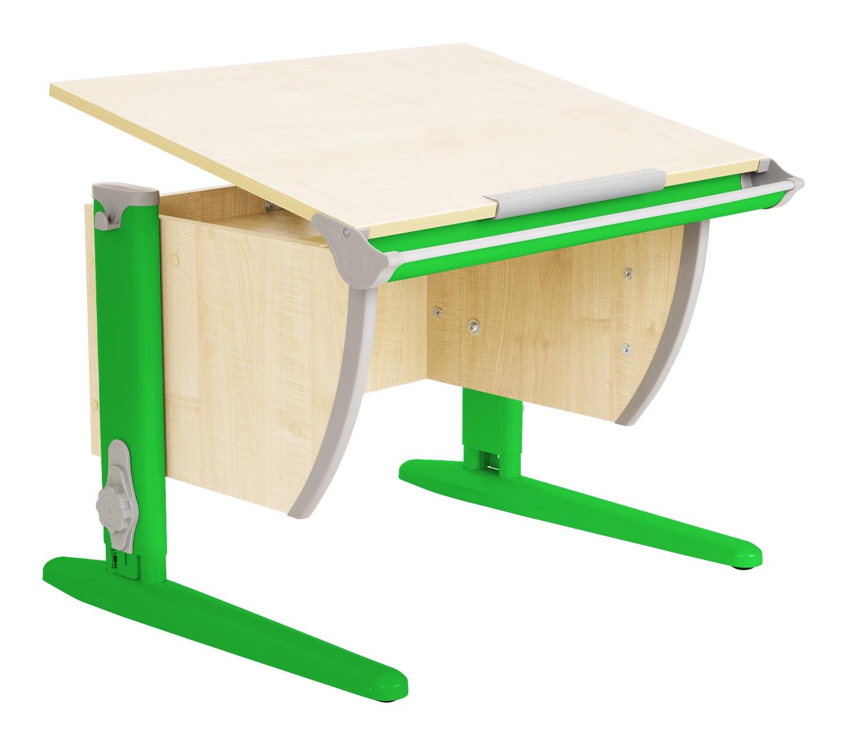 Парта Дэми (Деми) СУТ 14К (парта 55 см+боковая приставка) (цвет столешницы: клен, цвет ножек стола: зеленый)
