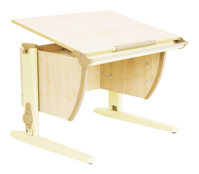 Парта Дэми (Деми) СУТ 14-01Д (парта 75 см+задняя двухъярусная приставка) (цвет столешницы: клен, цвет ножек стола: бежевый)