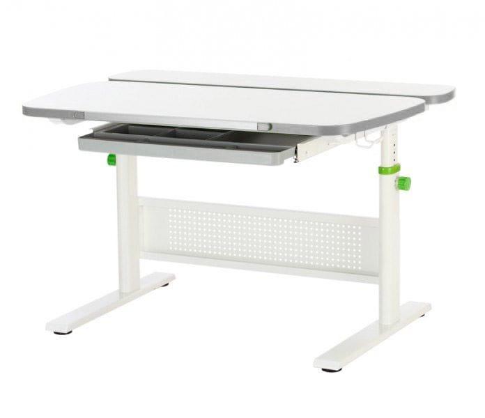 Парта детская KidsMaster K5-Unique Desk (цвет столешницы: беленый дуб, цвет боковин: серый, цвет ножек стола: белый) цены онлайн