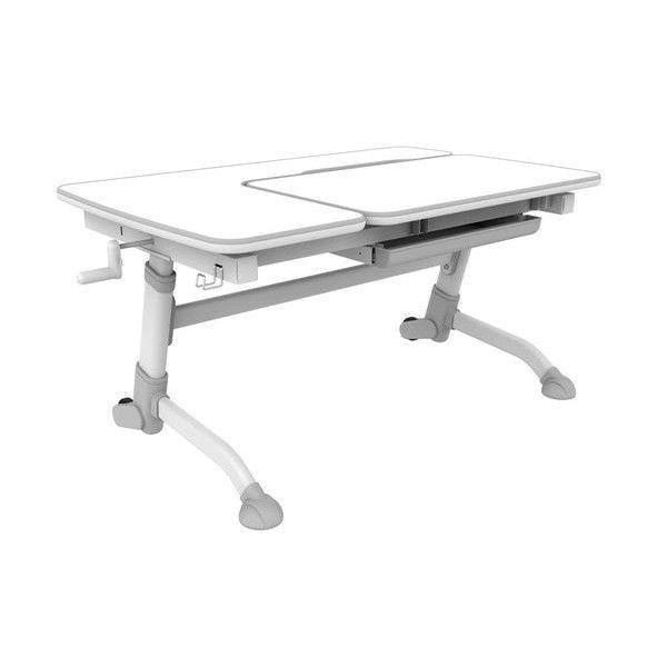 Парта-трансформер для школьника FunDesk Amare (цвет столешницы: белый, цвет ножек стола: серый)