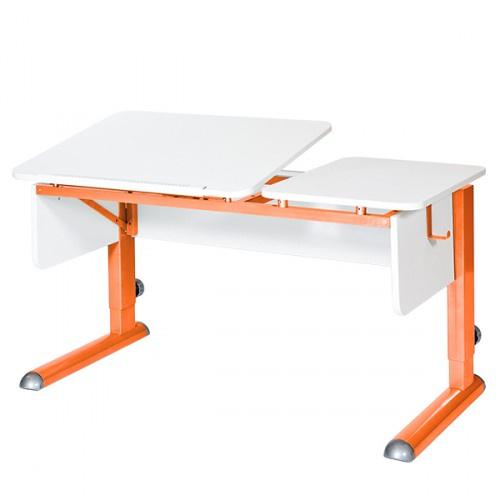 Парта для дома Астек ТВИН-2 (цвет столешницы: белый, цвет боковин: белый, цвет ножек стола: оранжевый) marvielab пиджак
