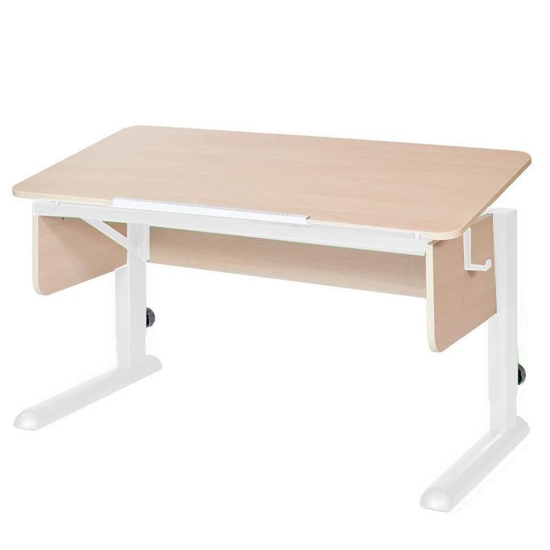 Парта для школьника для дома Астек МОНО-2 (цвет столешницы: береза, цвет ножек стола: белый)