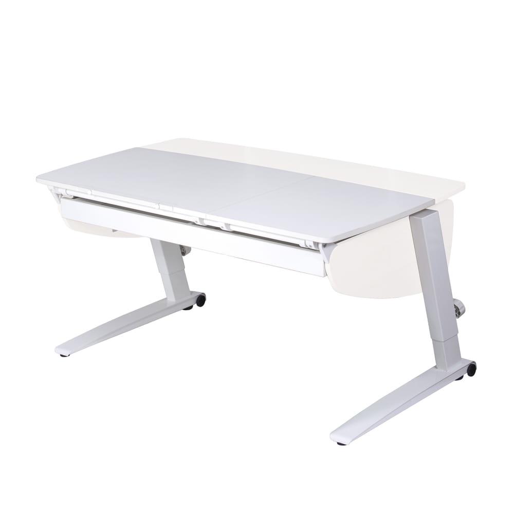 Парта растущая Астек Прайм с большим органайзером (цвет столешницы: белый, цвет боковин: белый, цвет ножек стола: белый)