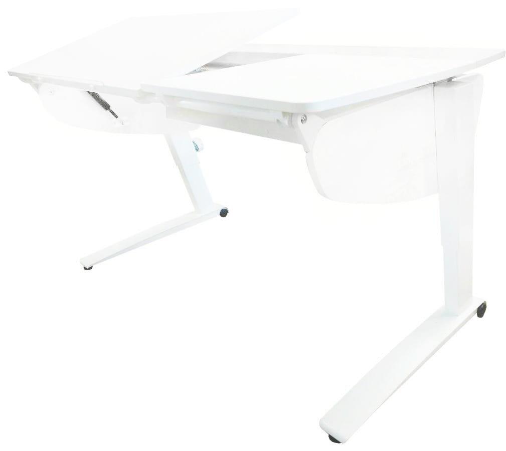 Парта растущая Астек Прайм (цвет столешницы: белый, цвет боковин: белый, цвет ножек стола: белый)