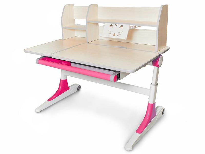Детский стол Mealux Ontario (цвет столешницы: белый, цвет ножек стола: розовый)