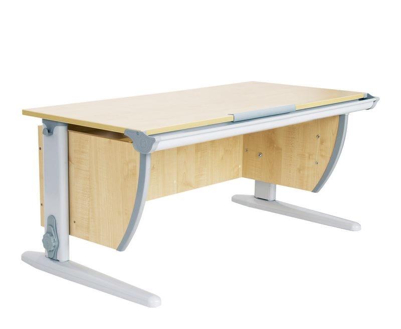 Парта ДЭМИ СУТ-15 120х55 см (цвет столешницы: клен, цвет ножек стола: серый)