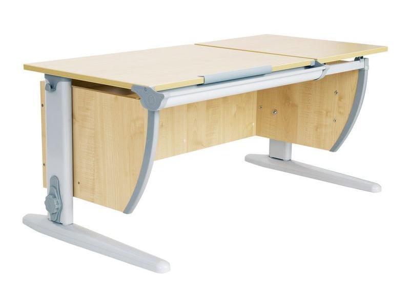 Парта Дэми 120Х55 см с раздельной столешницей (СУТ-17) (цвет столешницы: клен, цвет ножек стола: серый)