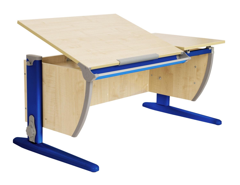 Парта Дэми 120Х55 см с раздельной столешницей (СУТ-17) (цвет столешницы: клен, цвет ножек стола: синий)