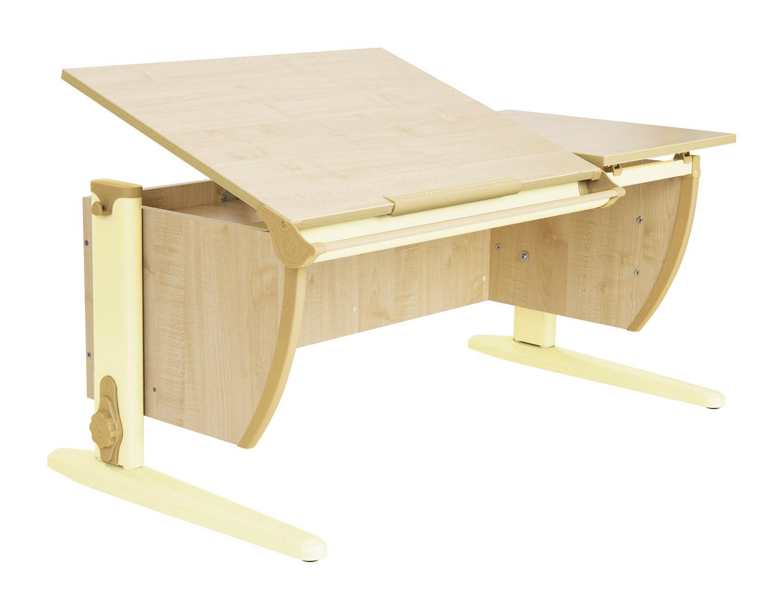 Парта Дэми 120Х55 см с раздельной столешницей (СУТ-17) (цвет столешницы: клен, цвет ножек стола: бежевый)