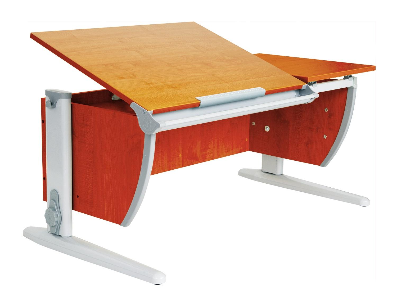 Парта Дэми 120Х55 см с раздельной столешницей (СУТ-17) (цвет столешницы: яблоня, цвет ножек стола: серый)