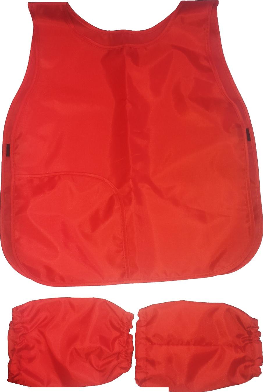 Фартук-накидка для труда BG с нарукавниками, 475x410мм из полиэстера Красный