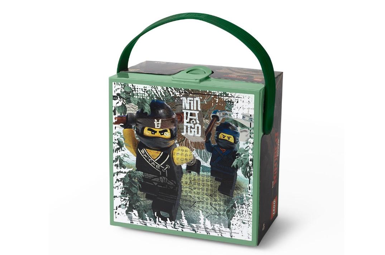 Контейнер для ланча Ninjago Movie с ручкой, зеленый (Lego 40511741) контейнер для ланча lego ninjago movie с ручкой зеленый