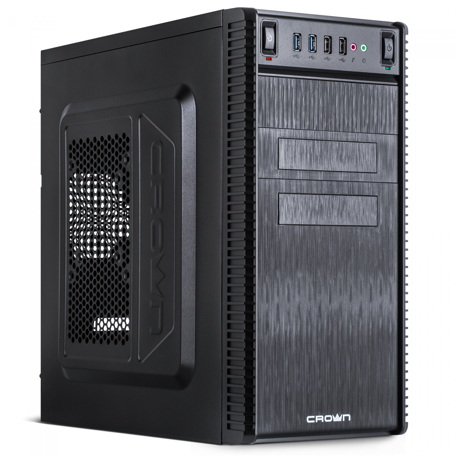 Корпус MiniTower CROWN CMC-403 black mATX (CM-500office) цена