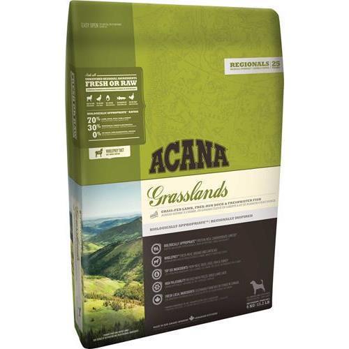ACANA Grasslands корм для взрослых собак всех пород, беззерновой с ягненком 6кг