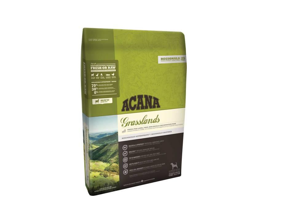ACANA Grasslands корм для взрослых собак всех пород, беззерновой с ягненком 2кг