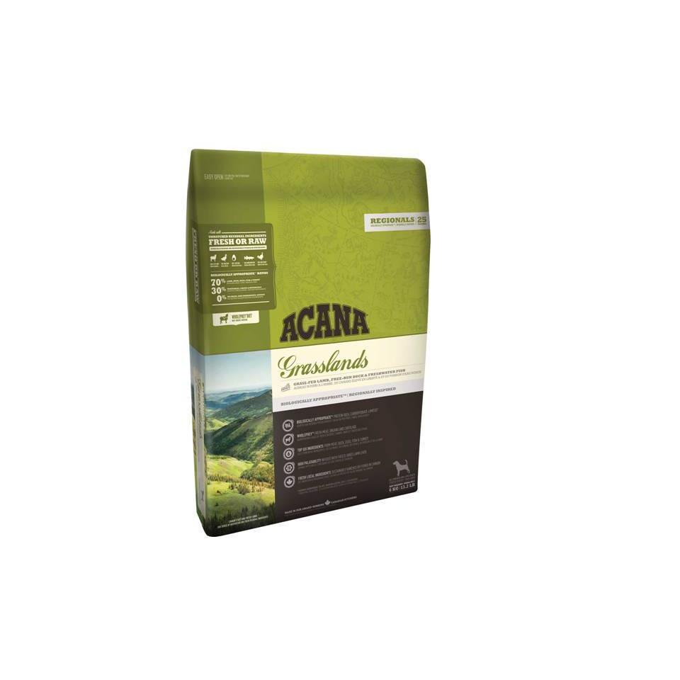 ACANA Grasslands корм для взрослых собак всех пород, беззерновой с ягненком 11,4кг