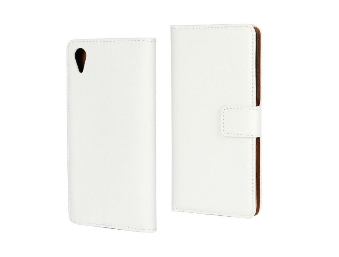 Чехол-книжка MyPads для Sony Xperia X / X Dual 5.0 с мульти-подставкой застёжкой и визитницей белый