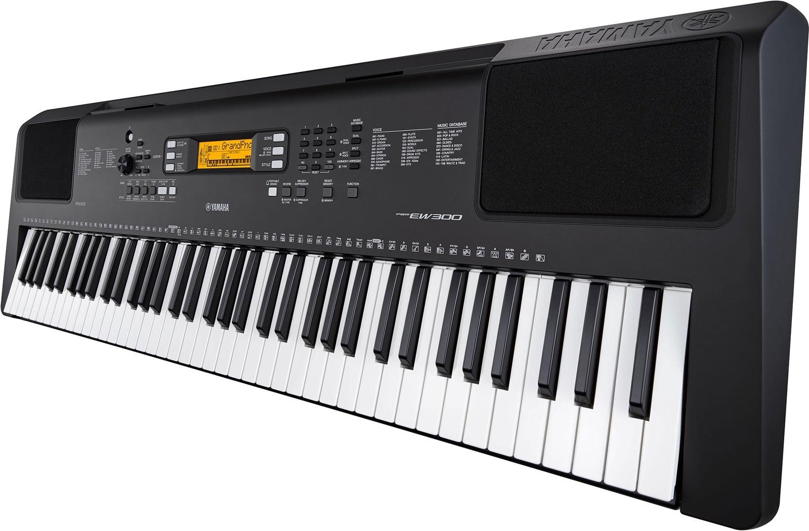 Yamaha PSR-EW300 синтезатор с автоаккомпанементом, 76 клавиш синтезатор yamaha psr s775