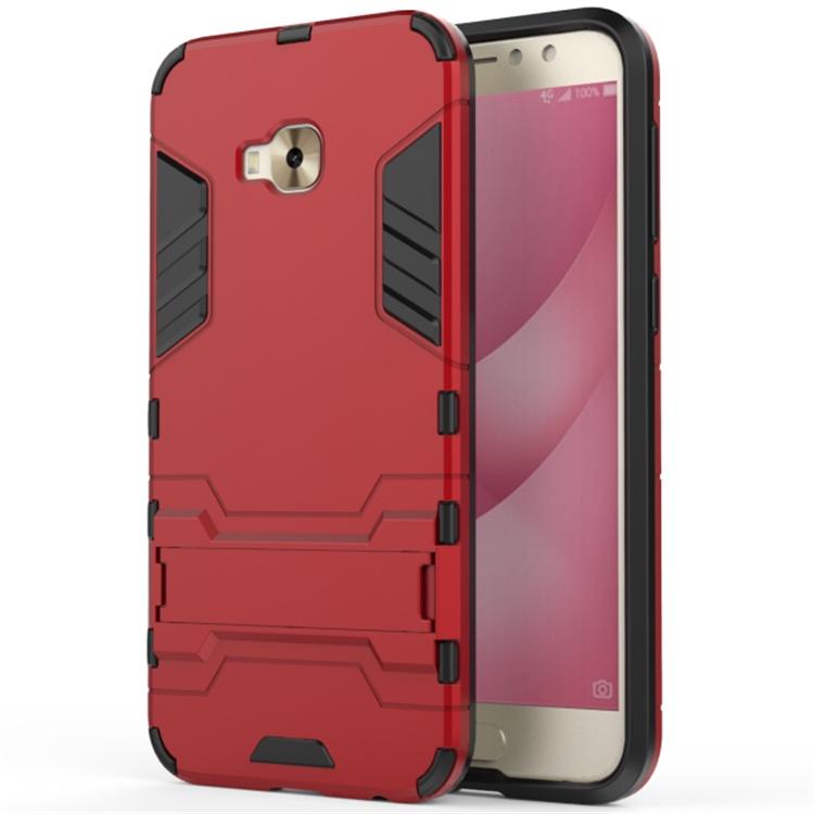 Чехол MyPads для ASUS ZenFone 4 Selfie Pro ZD552KL Противоударный усиленный ударопрочный красный цена и фото