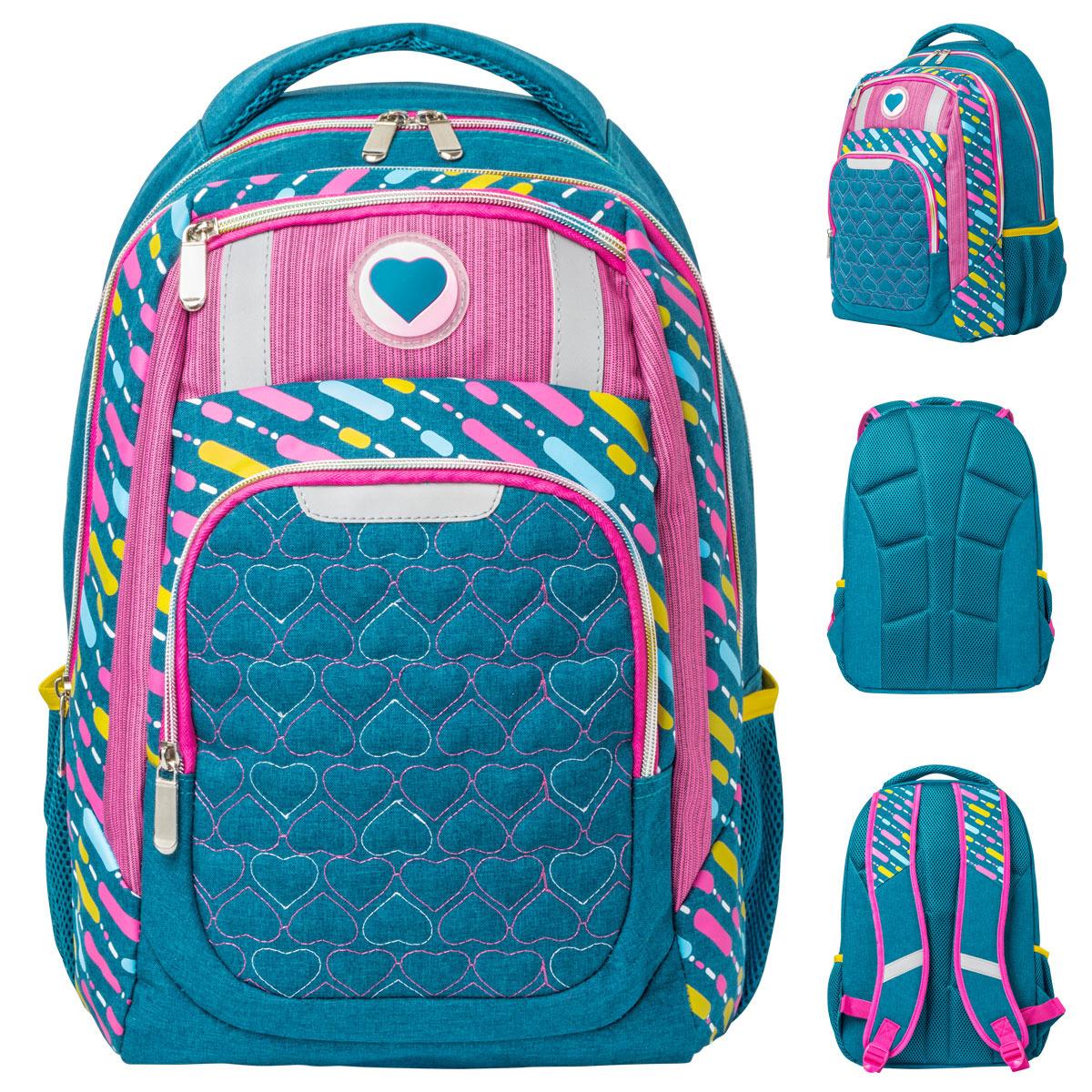 Рюкзак детский Action!, AB11161, синий, розовый цена и фото