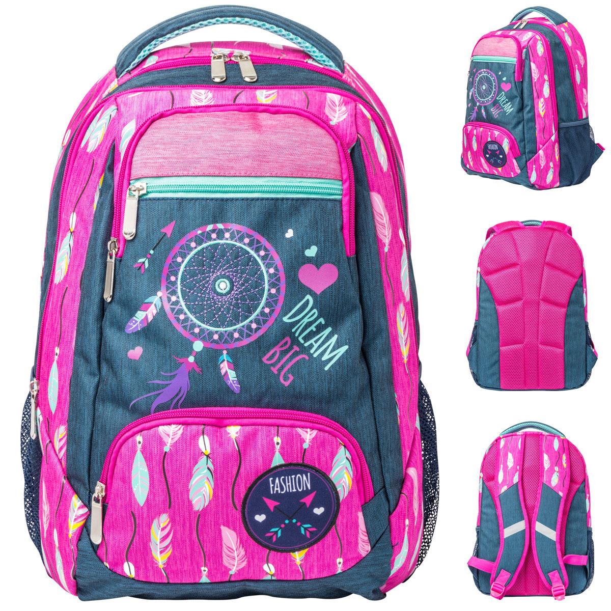 Рюкзак детский Action!, AB11163, серый, розовый цена