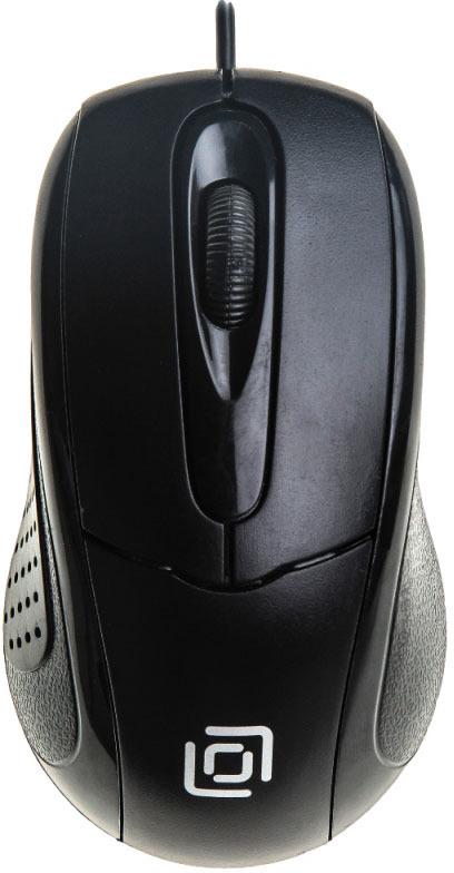 Мышь проводная Oklick, 305М, черный цена в Москве и Питере