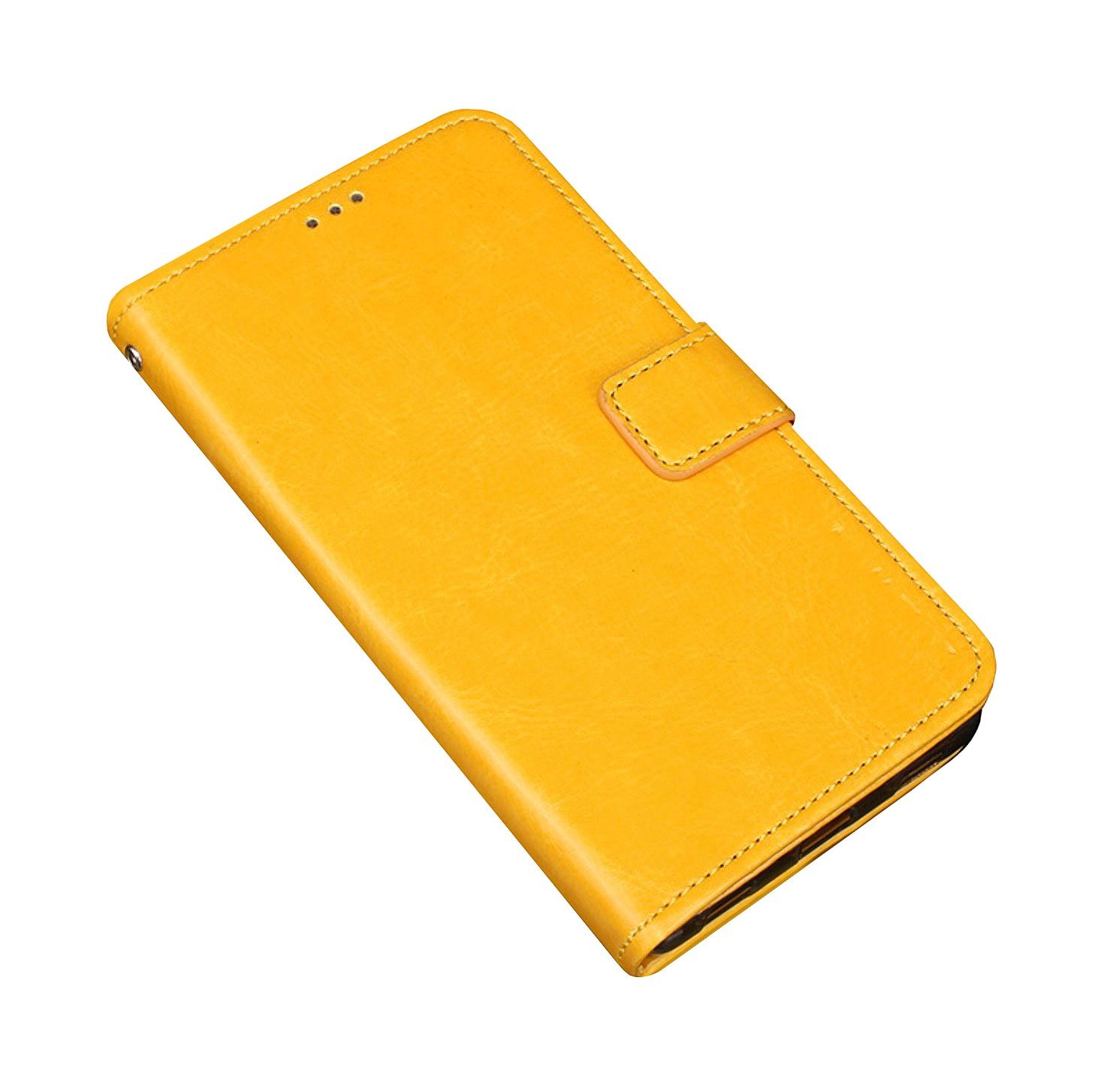 Чехол-книжка MyPads для Huawei Honor V10 / Honor View 5.99 (BKL-AL20) с мульти-подставкой застёжкой и визитницей желтый