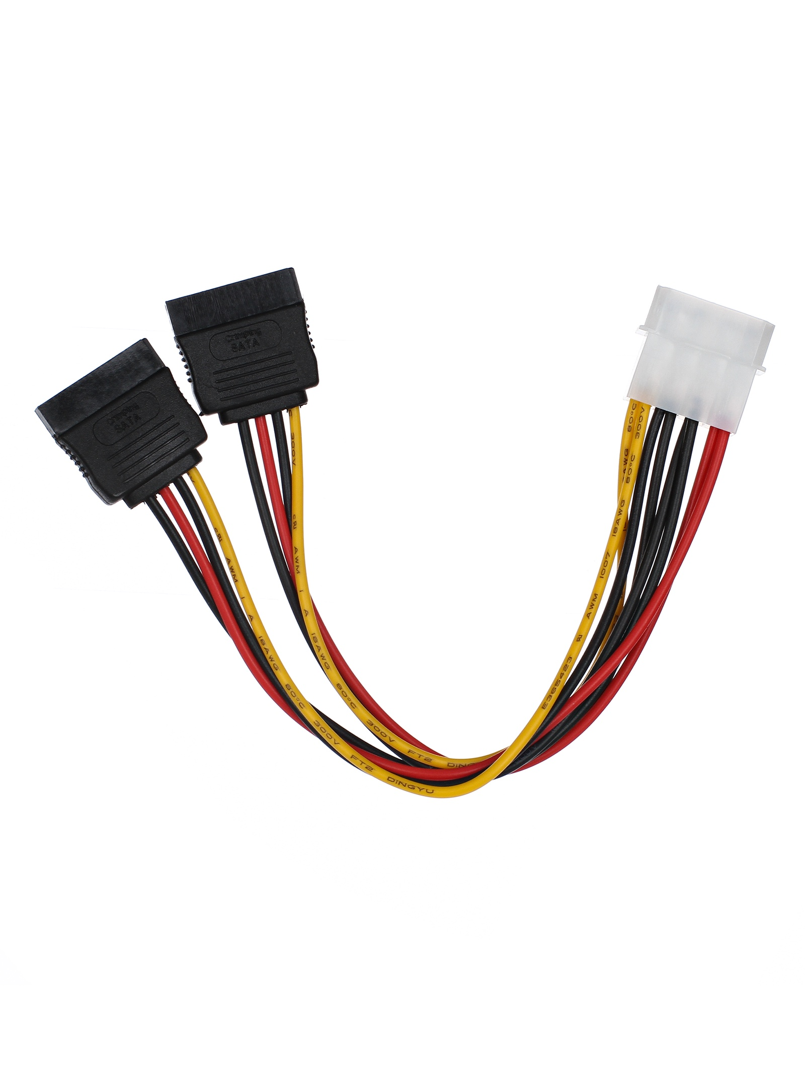 Переходник питания SATA-устройств (1big --> 2SATA) (VPW7572)