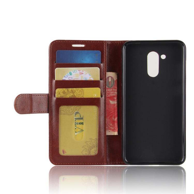 Чехол-книжка MyPads для Huawei Honor 6C Pro / Huawei Honor V9 Play с мульти-подставкой застёжкой и визитницей коричневый
