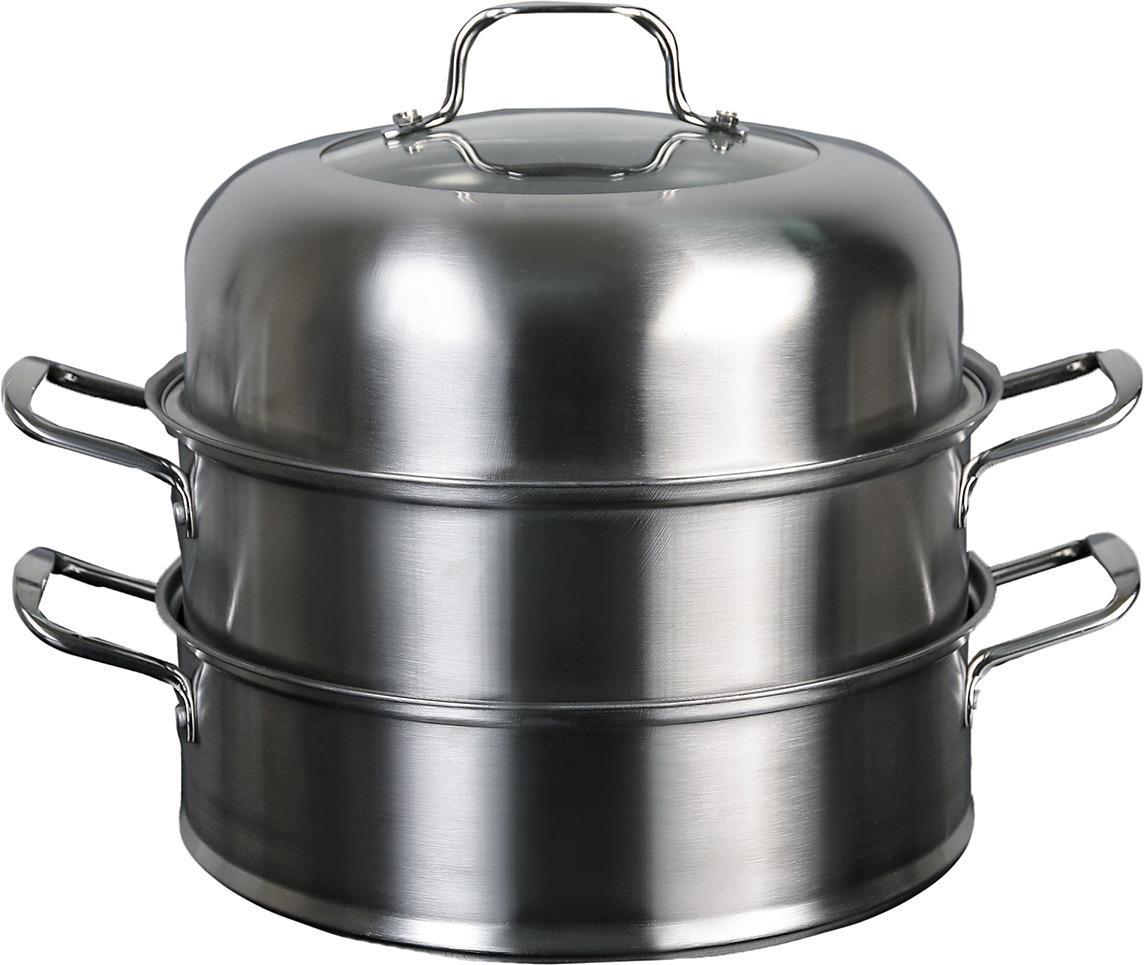 Фото - Пароварка Винсент, 2 уровняя, 3899511, серебристый посуда для приготовления пищи