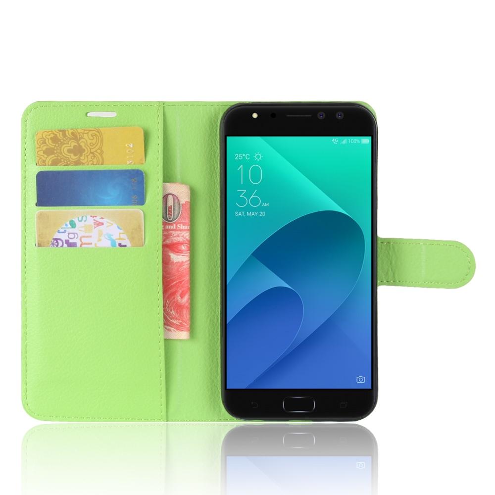 Чехол-книжка MyPads для ASUS ZenFone 4 Selfie Pro ZD552KL с мульти-подставкой застёжкой и визитницей зеленый аксессуар чехол для asus zenfone 4 selfie pro zd552kl g case slim premium black gg 899