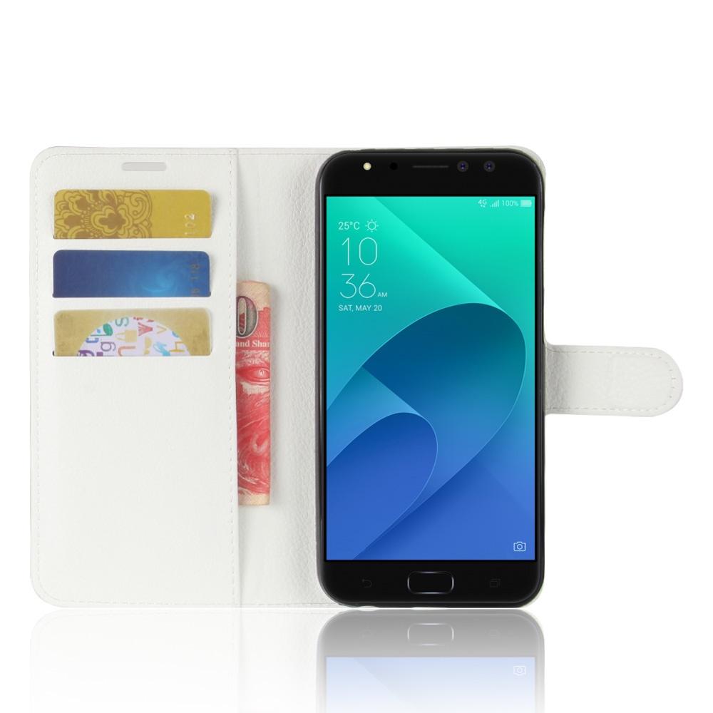 Чехол-книжка MyPads для ASUS ZenFone 4 Selfie Pro ZD552KL с мульти-подставкой застёжкой и визитницей белый аксессуар чехол для asus zenfone 4 selfie pro zd552kl g case slim premium black gg 899