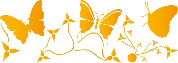 Трафарет 15х40, № 205, бабочки наклейки les decoratives трафарет ld ld01421