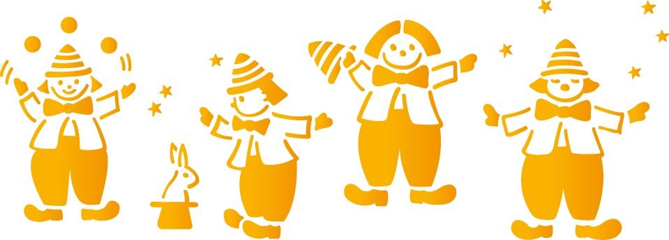 Трафарет 15х40, № 087, цирк наклейки les decoratives трафарет ld ld01421