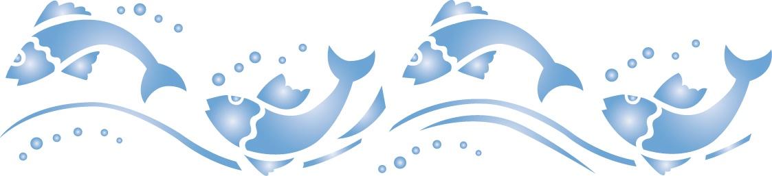 Трафарет 15х40, № 134, рыбки наклейки les decoratives трафарет ld ld01421