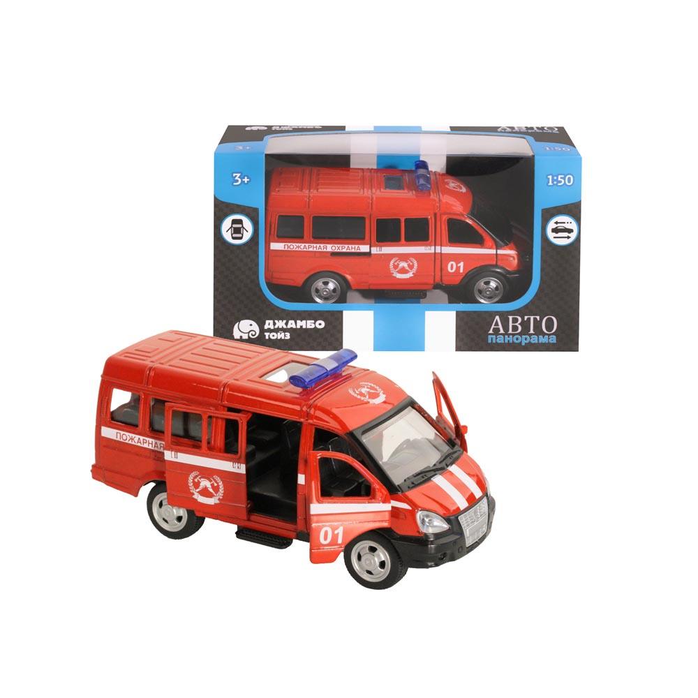 Машинка металлическая ТМАвтопанорама, Пожарная охрана, 1:50, цвет красный, инерция, в/к 14,5*8*5