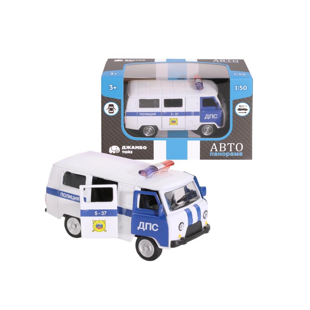 Машинка металлическая ТМАвтопанорама, Полиция, 1:50, цвет белый, инерция, в/к 12*7*5,5 см