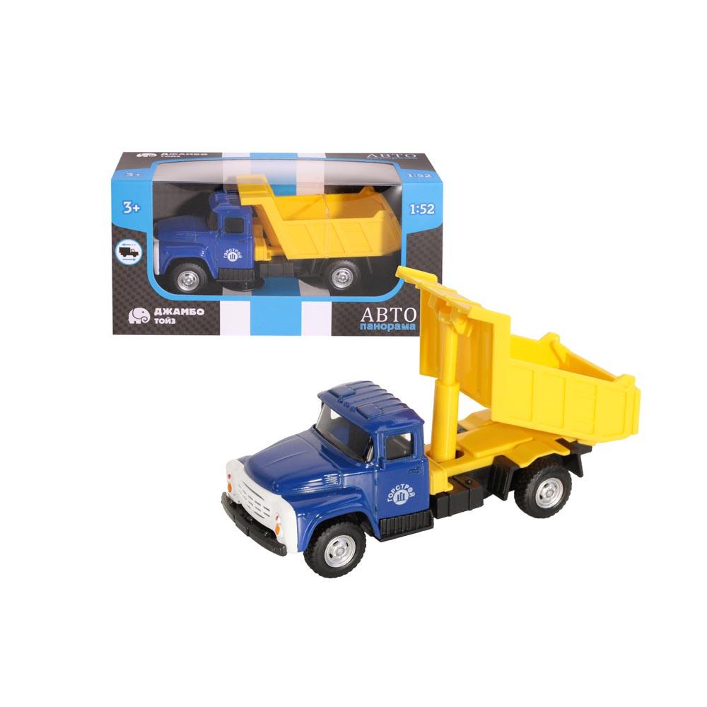 Машинка металлическая ТМАвтопанорама, Самосвал, 1:52, цвет синий, инерция, в/к 16,1*6,1*8,4 см
