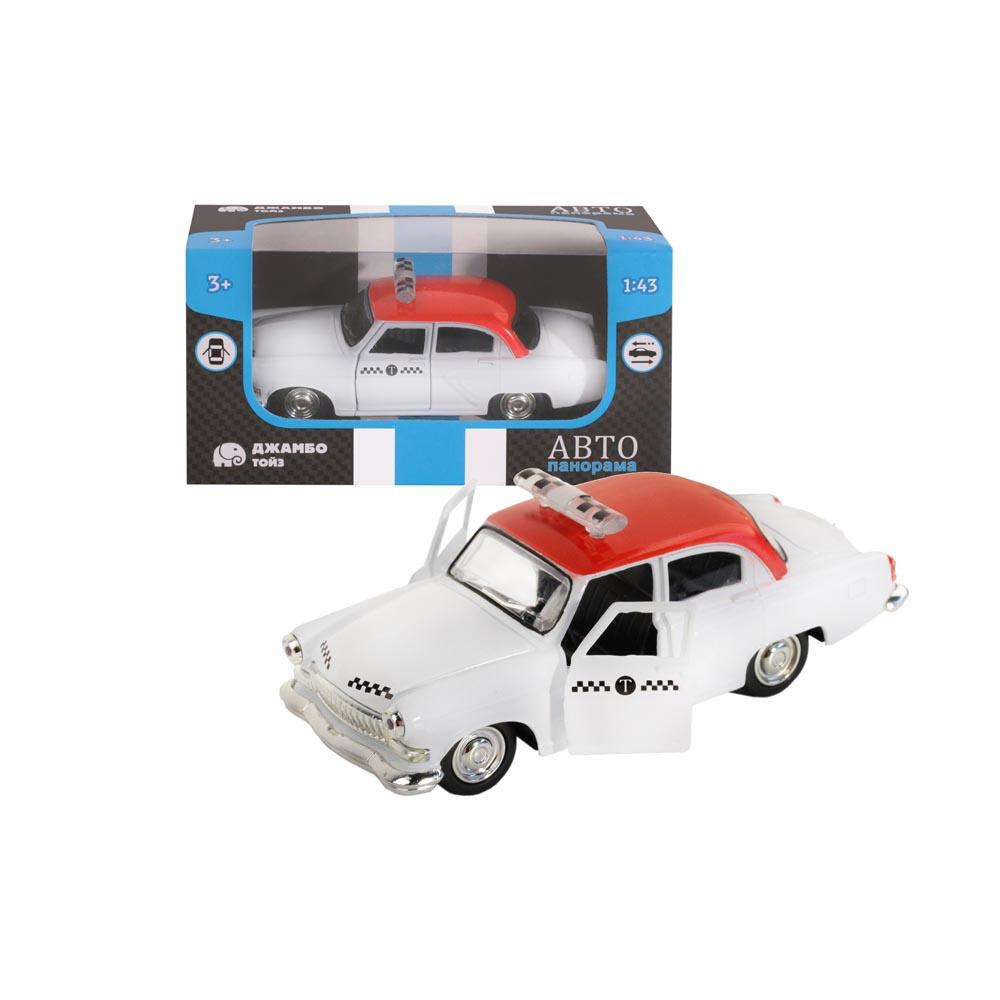 Машинка металлическая ТМАвтопанорама, Такси, 1:43, цвет серый, инерция, в/к 14*7*5,5 см