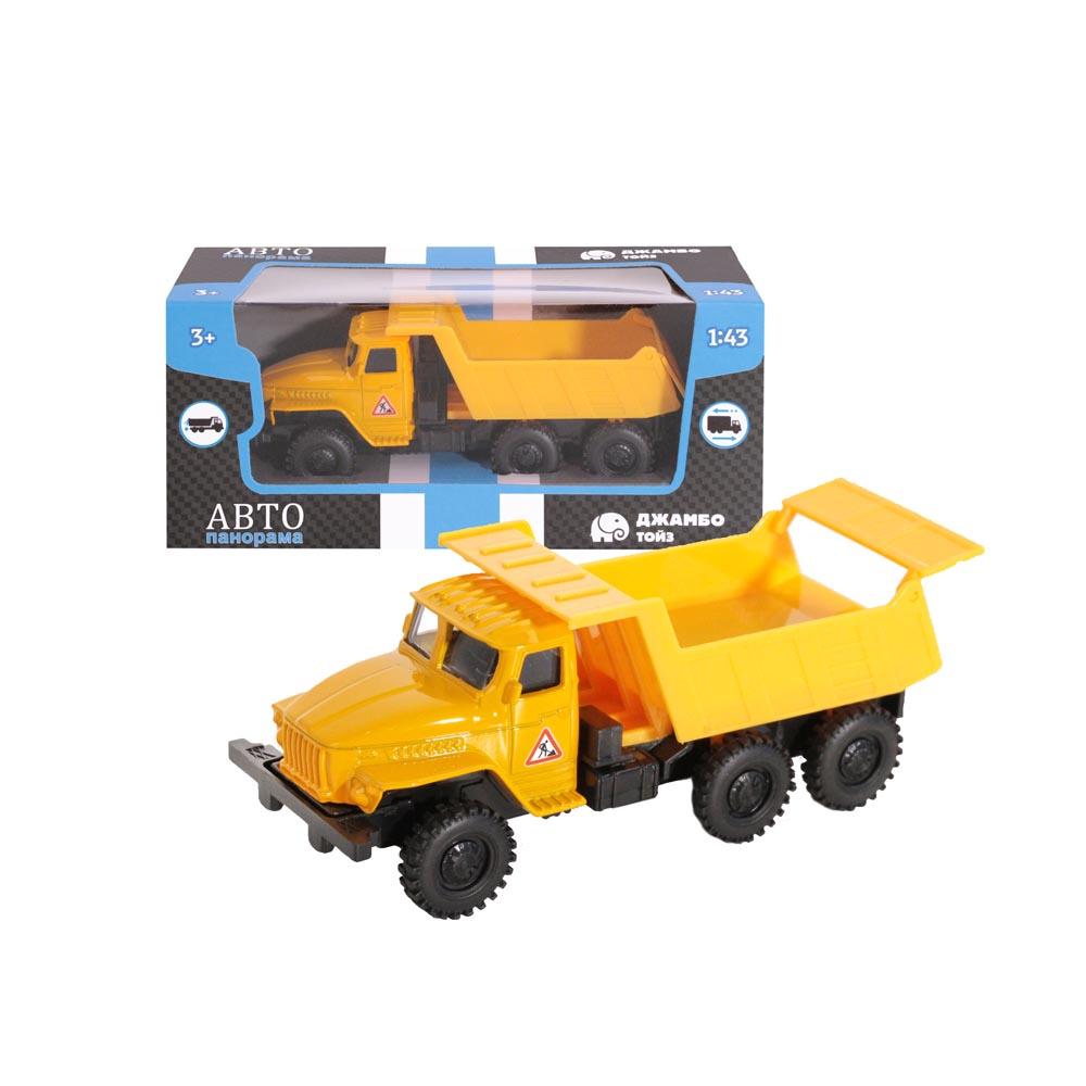 Машинка металлическая ТМАвтопанорама, 1:43, цвет желтый, резиновые колеса, инерция, в/к 7*16*6,2 с