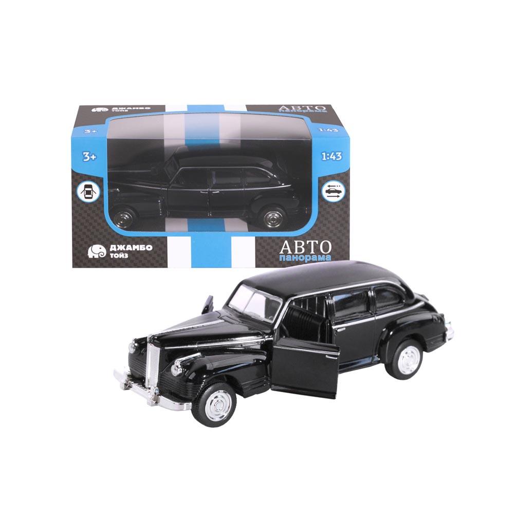 Машинка металлическая ТМАвтопанорама, 1:43, цвет черный, инерция, в/к 14*5,7*6,8 см