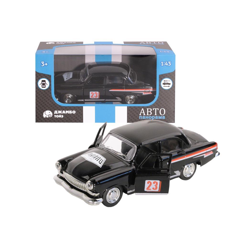 Машинка металлическая ТМАвтопанорама, 1:43, цвет черный, инерция, в/к 14*7*5,5 см
