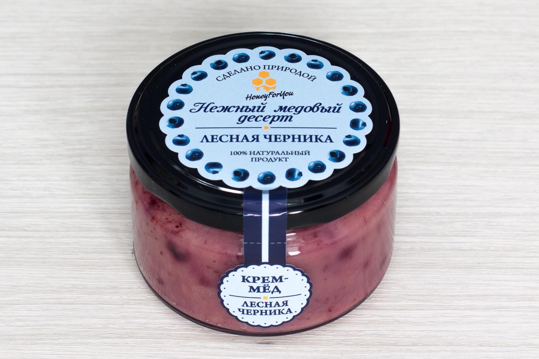Нежный медовый десерт HoneyForYou Лесная черника